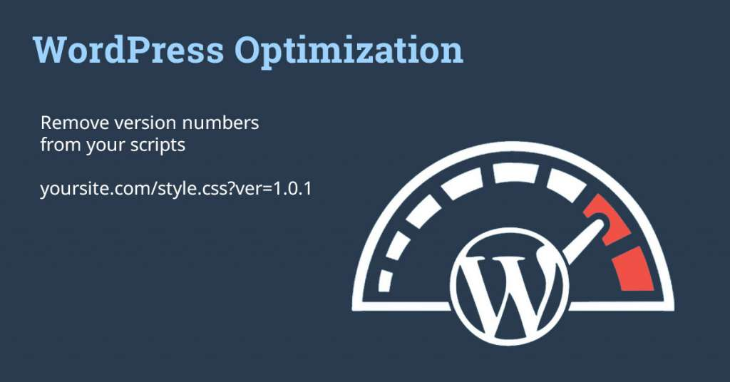 Remove Versioning in Wordpress CSS and JS Scripts